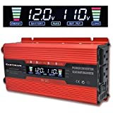 Cantonape 700W/1500W(Peak) Car Power Inverter DC 12V to 110V AC Converter with LCD Display Dual AC Outlets Comapct Size and 2A USB...