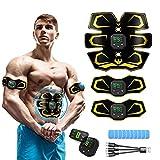 MATEHOM Electrostimulateur Musculaire,Ceinture Abdominale Electrostimulation,EMS Stimulateur USB Charge,smart fitness Entraînement pour Abdomen/Bras/Jambes
