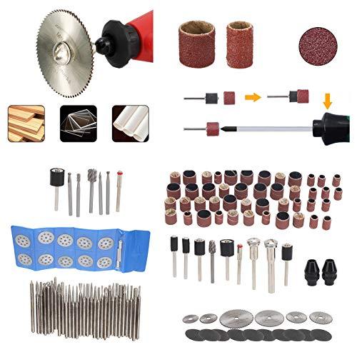 Material HSS, 121 piezas de accesorios para lijadora eléctrica, kit de herramientas de corte para pequeñas manualidades, accesorios para creaciones de bricolaje
