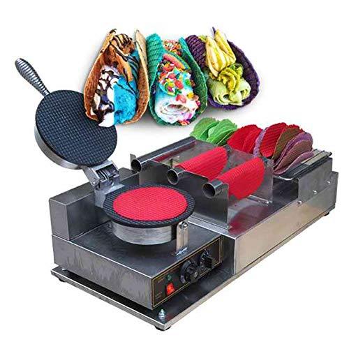 Kolice Commercial Taco Rolling Machine/Taco Maker/Taco Machine/no-Stick Waffle Machine/Cucina Pro Tortilla Maker/Flour Corn Taco Machine/Tortilla Maker Machine with Taco Holder