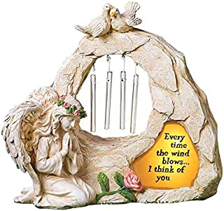 Angel Garden Statues Sympathy Gift with Solar - Cementary Decoration,Memorial Statue for Home Garden Cementary Sympathy Gi...