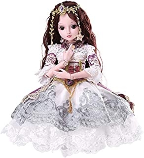 Funnybuy BJD Dolls 1/3 SD Doll 23.6 inch 19 Joint Ball Jointed Dolls DIY Toys with Full Set Girls Gift Blanche