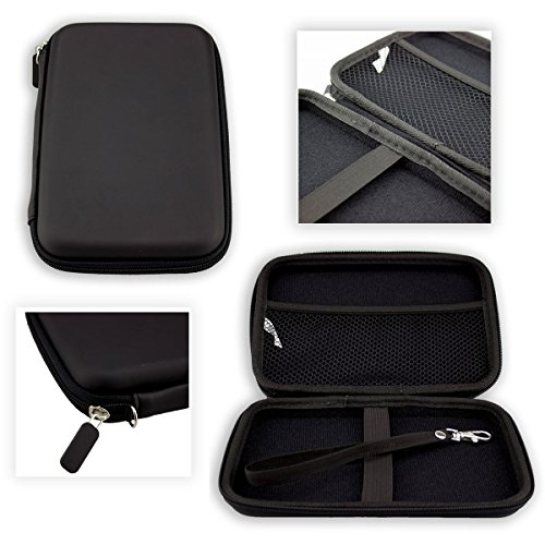 caseroxx GPS-Tasche für CARRVAS 7 Zoll Europe Traffic, (GPS-Tasche mit Reissverschluss und Gummizug in schwarz)
