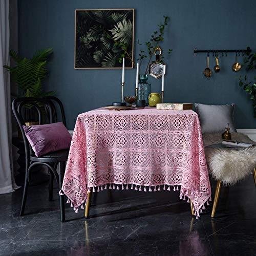 HXRA tafelkleden Outdoor tafelkleden Handgemaakte haak ronde tafelkleed gebreide holle kunst koffietafel doek schieten achtergrond set