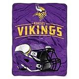 The Northwest Company NFL Minnesota Vikings Franchise Micro Raschel Throw Blanket, 46' X 60'