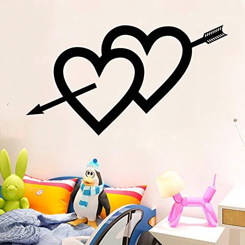 Calcomanía de vinilo para pared, diseño de flechas de amor