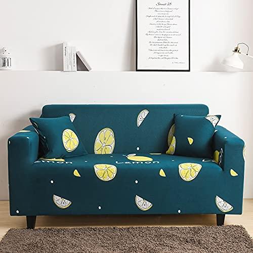 ASCV Sessel Elastische Couchbezug Ultradünne Polyester-Sofabezug für Wohnzimmer Universelle Schonbezug-Sofabezug A13 3-Sitzer