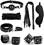Handcuffs Sex, Sex Toys, Blindfold Whips Fashion Toys add Sexual Interest 2021 Newly Black BSDM Sets for Couples Sex