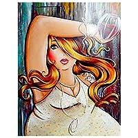 セクシーな美しさ、大人の子供のための番号キットによるペイント DIY キャンバス家の装飾のためのフレームレスの絵画 -40x50cm