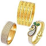 Sukkhi Jewellery Pearl Bangle Set for Women (Multi-Colour) (CBMIX83724 2.4)