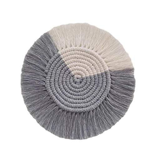 ZHANGCHI Portavasos 4 Unids Macrame Placemats Taza Mat Bohemia Mantel Costera Copa Cojín Norte Europa Estilo Puro Handcraft Cotton Braid Mats Aislante