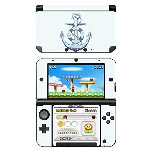 Disagu SF-104164_1034 Design Folie für Nintendo 3DS XL - Motiv Anker blau transparent
