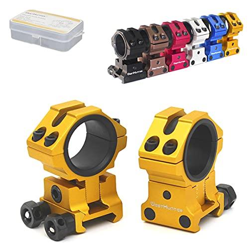 WestHunter Optics Adjustable Height Picatinny Scope Rings, 1...