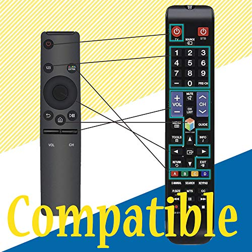 Universal Remote Replacement for Samsung TV Remotes BN59-01259B BN59-01260A    BN59-01292A BN59-01259D and 4K UHD 6 Series 7 Series UN43 NU50 NU55 NU65 NU75 KS Models with 3 Years Warranty