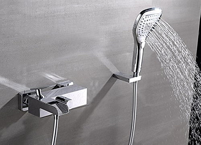 Luxurious shower Kostenloser Versand Luxus Messing Chrom Dual Inhaber Wasserfall Badewanne Wasserhahn an der Wand montierten Mixer Badezimmer Dusche eingestellt ist 777