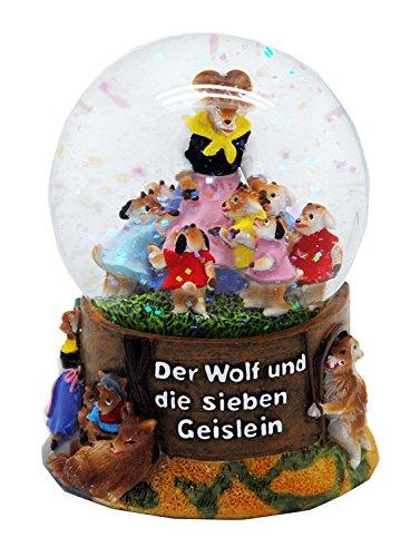 Minium Collection 30039 Märchen Schneekugel Der Wolf und die Sieben Geislein 65mm