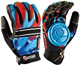 Sector 9 BHNC Longboard Skateboard Slide Gloves Acid Blue With Slide Pucks Size L/XL by Sector 9