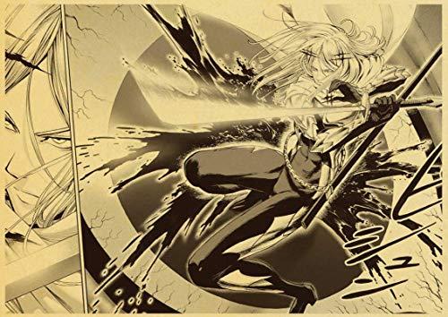 xiangpiaopiao Póster De Anime Japonés Punch Man, Póster De Pared Retro, Póster De Pegatinas Vintage, Impresiones para Bar Y Decoración del Hogar, 50X70Cm Kq-1308