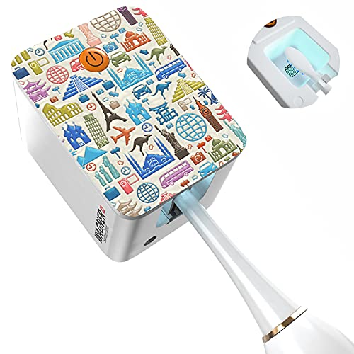 WAGNER Switzerland. Deep Toothbrush Sanitizer/UV-C Sterilizer. for Home and Travel, USB Li-Ion Rechargeable Battery. 3D Design. Compatible with All Brush Heads. Automatic. (Travel)