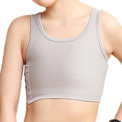 BaronHong Sport BH Brust Binder Atmungsaktives Mesh Korsett Für Tomboy Trans Lesben (grau, XL)