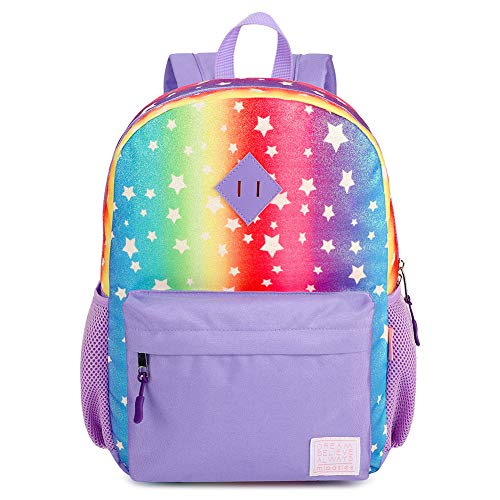 Mibasies Girls Backpacks, Toddler Preschool Kindergarten Elementary Kids Rainbow School Bag