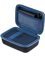 co2CREA Twardy pokrowiec ochronny na podróż etui do Fujifilm Instax Mini Link Portable Bluetooth Wireless Smartphone Printer (Black Outside, Blue Inside)