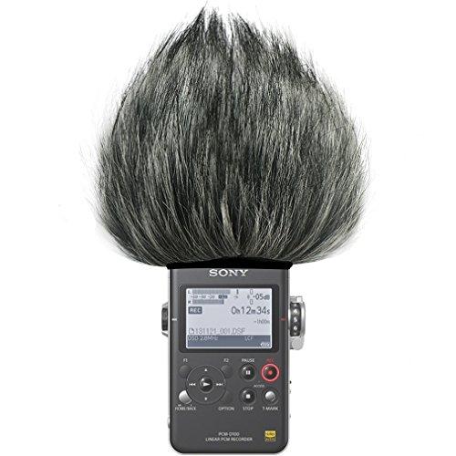 FIRST2SAVVV TM-D100-G01 Micrófono Externo Peludo Parabrisas Manguito para Grabadores Digitales para Sony PCM-D100