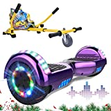 """MARKBOARD Self Balancing Scooter with Hoverkart, Bluetooth Speaker 6.5"""" Smart Electric Scooter Skateboard with LED Light on wheel"""