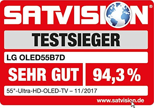 LG OLED55B7D 139 cm (55 Zoll) OLED Fernseher (Ultra HD, Doppelter Triple Tuner, Active HDR mit Dolby Vision, Dolby Atmos, Smart TV)