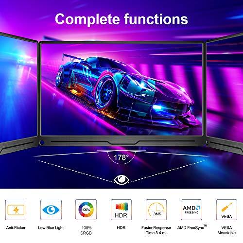 4K Tragbarer Monitor, UPERFECT 15,6 Zoll Portable Display 3840 * 2160 IPS UHD Bildschirm mit OTG HDMI Typ-C Mini DP Anschluss für Switch PS3/4 Xbox Spieler, Fotografen, Videoeditoren