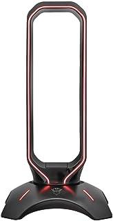 Trust Gaming GXT 265 Cintar Supporto per Cuffie RGB (Due Porte USB, Adattabilità Universale, Bordi Illuminati LED con RGB ...
