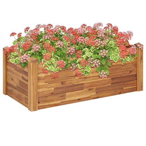 vidaXL Garten-Hochbeet 110 x 60 x 44 cm Massivholz Akazie