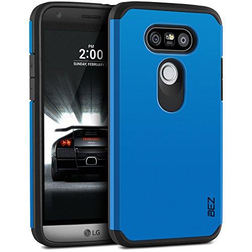 BEZ Hülle für LG G5 Hülle, Handyhülle Kompatibel für LG G5 & LG G5 SE Stoßfestes Etui, [Heavy Duty Serie] Outdoor Dual Layer Armor Case Handy Schutzhülle [Shockproof] Robuste - Blaue Marine