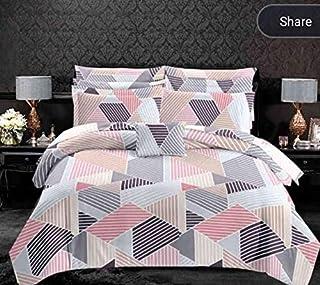 ELSTONE HOME Cotton Double Bed Sheet King Size 108×108 inch 300 TC (Size :108 cm x 108 cm) (MultiColour19)