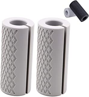 Barbell Grips-Thick Bar Fat Grips for Weightlifting 1...