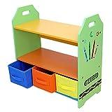 Kiddi Style Estantería Infantil + Almacenamiento, color verde