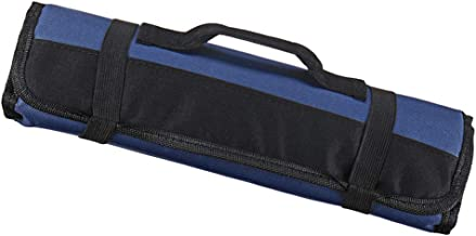FITYLE Chef Storage Bag Roll Bag Carry Case Bag Kitchen Cooking Portable Durable Storage 22 Pockets, 35.3x13.5cm, Black Blue Green to Choose - Blue
