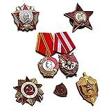 Más Alto Soviética militar medallas selección | 7x medalla/insignia | Elite premio antiguo reproducción URSS colección