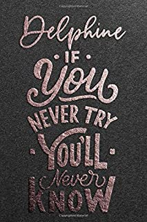 Delphine If You Never Try You Never Know: Motivational To Do Checklist Notebook / Journal Gifts for Daily Task Planner & T...