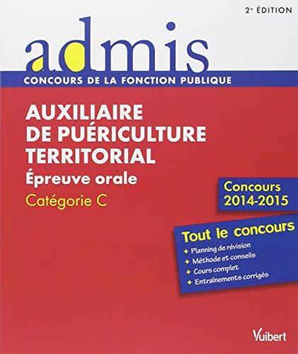 Concours Auxiliaire de puériculture territorial - Épreuve orale - Catégorie C - Concours 2015