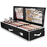 "ZOBER Premium Wrap Organizer, Interior Pockets, fits 18-24 Standers Rolls, Underbed Storage, Wrapping Paper Storage Box and Holiday Accessories, 40"" Long - Tear Proof Fabric - 5 Year Warranty"