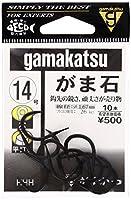 がまかつ(Gamakatsu) シングルフック がま石 穴 14号 10本 黒