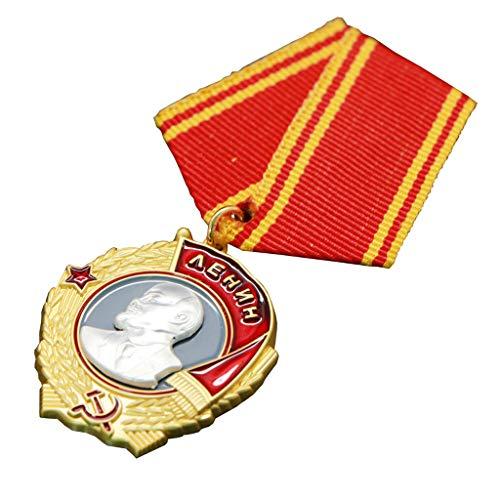 JXS Réplica de la Orden Soviética de Stalin, Medalla de Ejército Rojo de la Segunda Guerra Mundial, 1: 1 Producción de aleación de fundición a presión, Colección de Insignias Militares