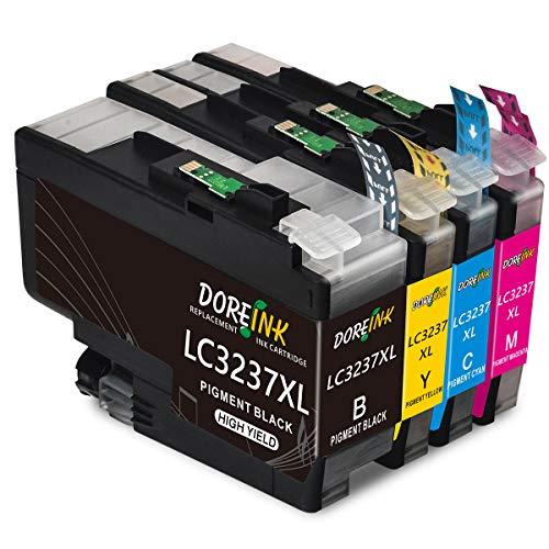 DOREINK LC3237xl - Cartuchos de tinta de repuesto para Brother LC3237XL compatible con Brother HL-J 6000 DW HL-J 6100 DW Brother MFC-J5945DW MFC-J 6945DW MFC-J6947 DW (negro/cian/magenta/amarillo)