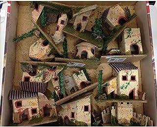 Primolegno 3X Casetta Natalizia per Presepe in Legno Set di 3 Modelli Diversi di Casa Altezze da 9 a 11 cm Decorazione Natalizia