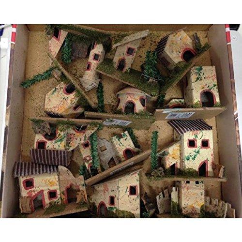 Decorazione Natale Presepe Casette Casolari Assortiti 6x5x8cm 12 Pz Mi003747