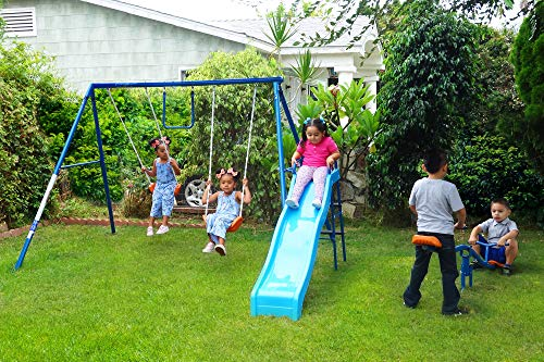 FITNESS REALITY KIDS 6 Station Swing Set with Seesaw
