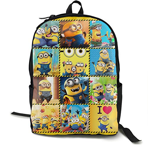 Cute-Minion-Yellow-Gru Shoulder Bags Classic Backpack Large Capacity Daily Work Study Bookbags