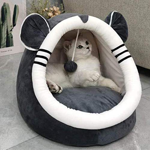 FCYQBF Warm Comfort Cat Bed Soft Cat Cuddle Cave Comfort Pet House Bed 2 in 1 Pet Nest Sofa Plush Sleeping Bed Cozy Pet Bed Tent House with Removab