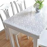 IVERNA テーブルクロス PVC製 テーブルマット デスクマット テーブルクロス 長方形 防水 撥水 耐久 汚れつきにくい (70*120, くり石)